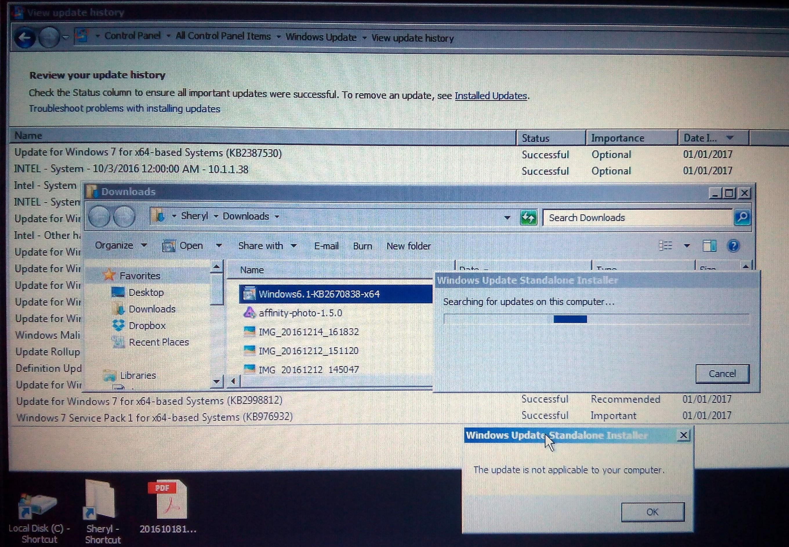 windows 7 update loop