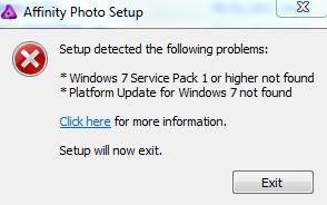 platform update windows 7 sp1