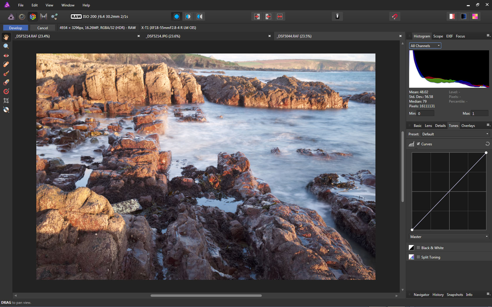 Incorrect histogram with Fuji X-Trans Raw Files - (Pre 1 7) Bugs on