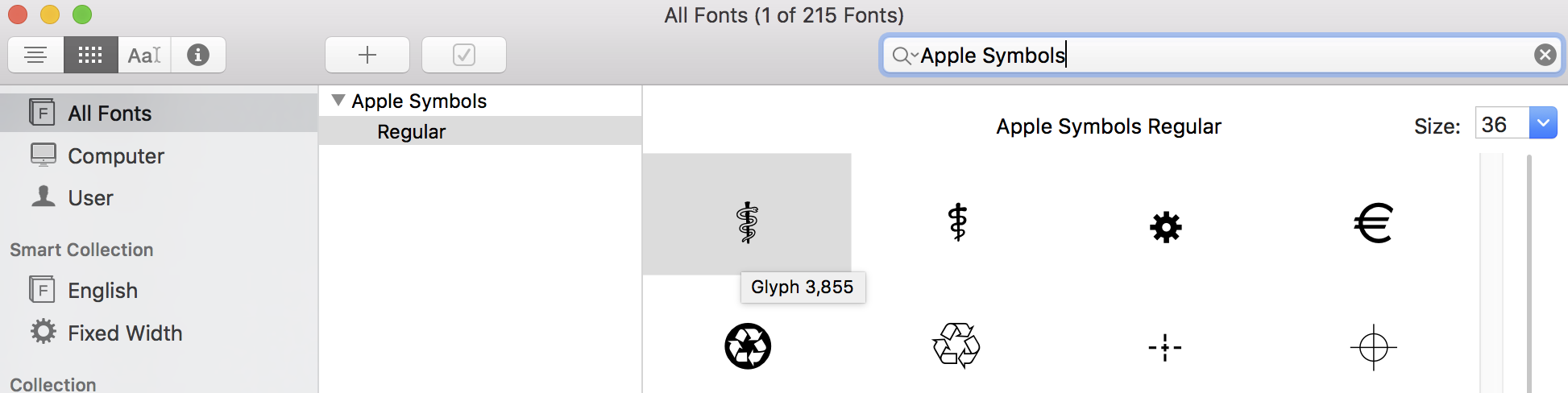 Inserting Characters From Symbol Fonts How Affinity On Desktop