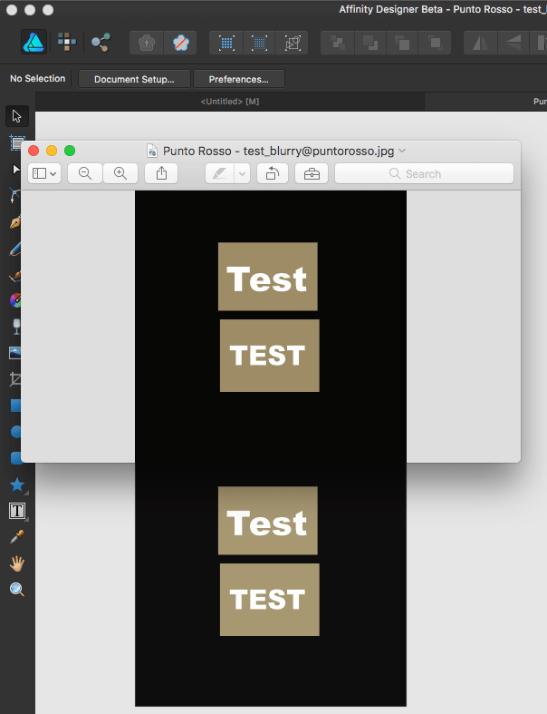 Exported PNG & JPG are blurry - Affinity on Desktop