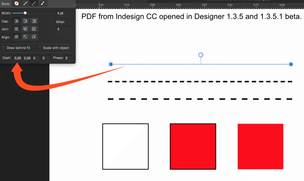 Fixed] PDF Output for Dashed and Dotted Lines buggy - (Pre 1 7