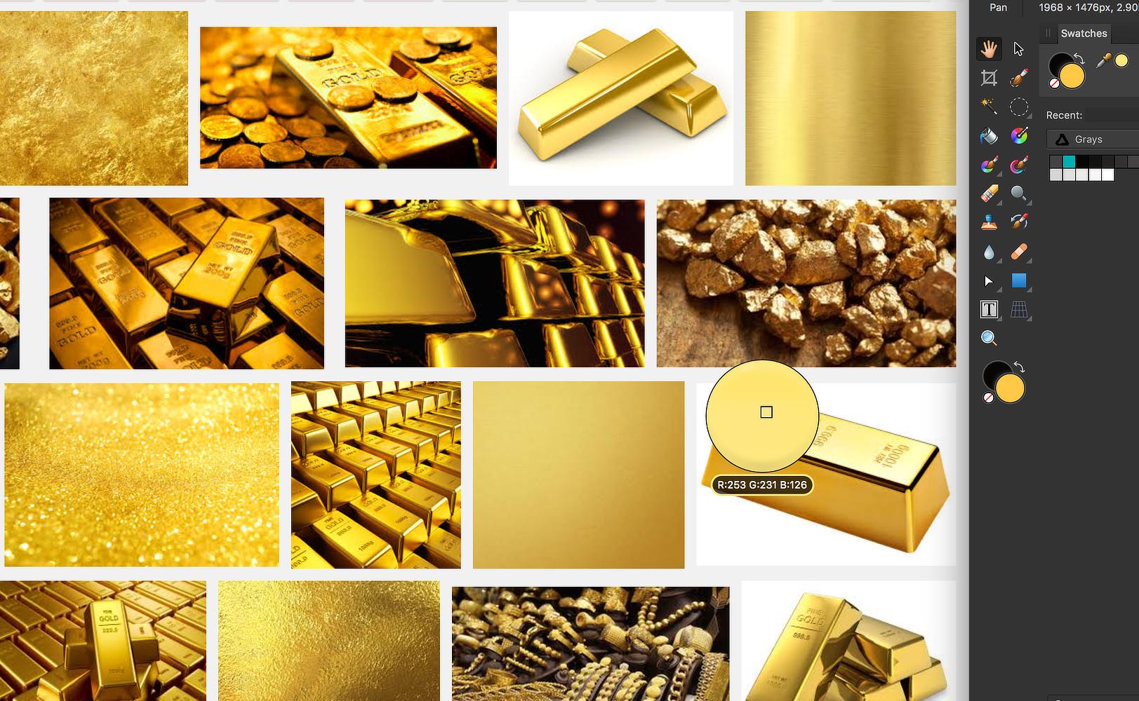 GOLD color definition - Affinity on Desktop Questions (Mac