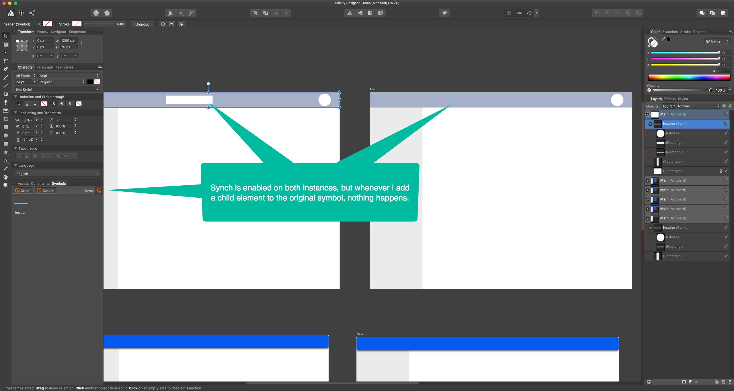 Symbols not working ad 15 bugs on mac affinity forum post 38113 0 63026200 1476299829thumbg buycottarizona Images