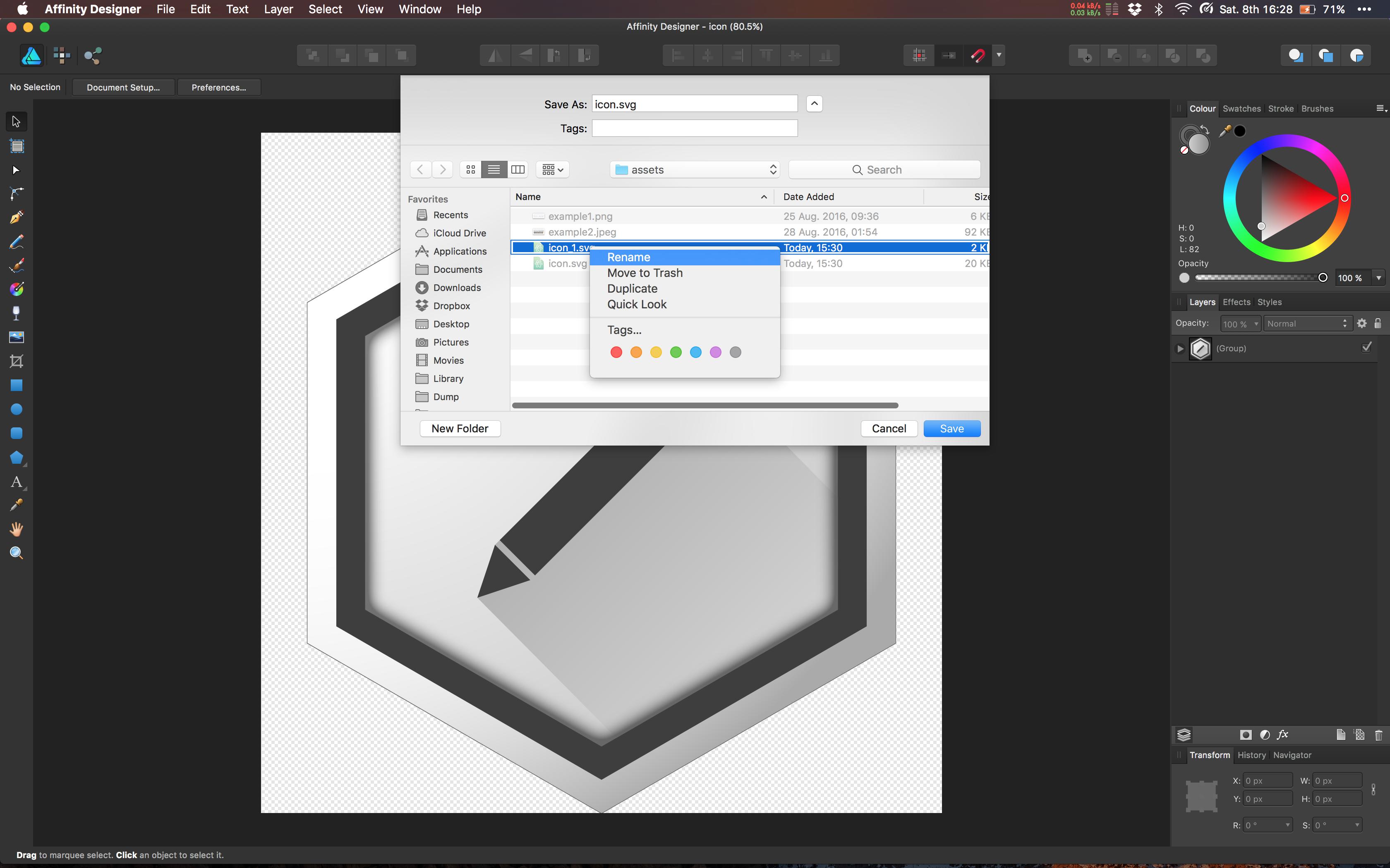 Affinity Designer Crash On New