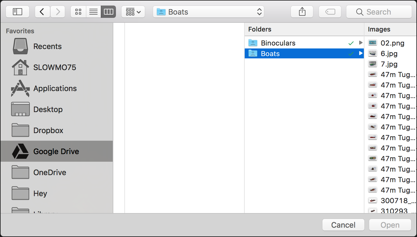 Upper hierarchies in folders missing from open dialog - Bugs