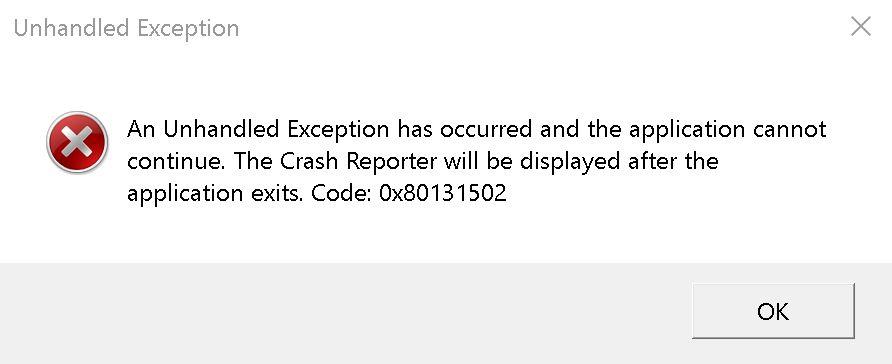 FF Unhandled Exception Crash.JPG