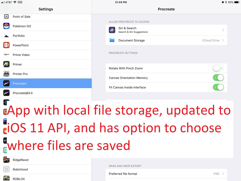 Affinity Photo local folder via Files app API? - Feedback for