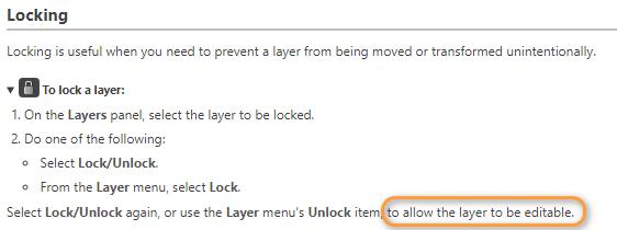 Locking/unlocking layers - Affinity on Desktop Questions