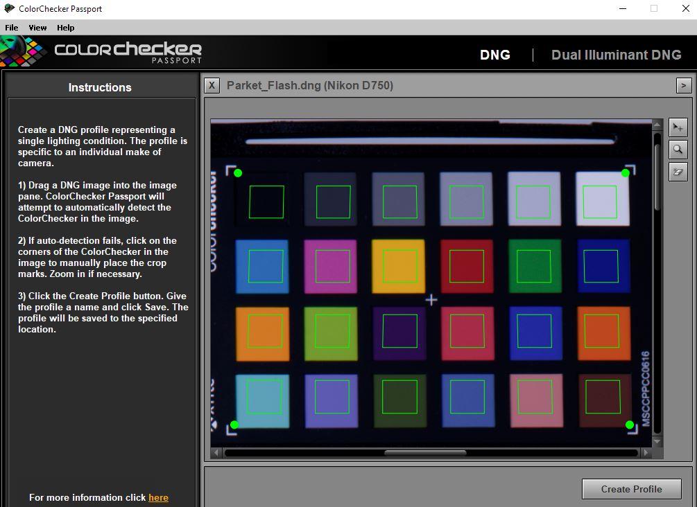 Color Correction with X-Rite Colorchecker Passport - Feedback for