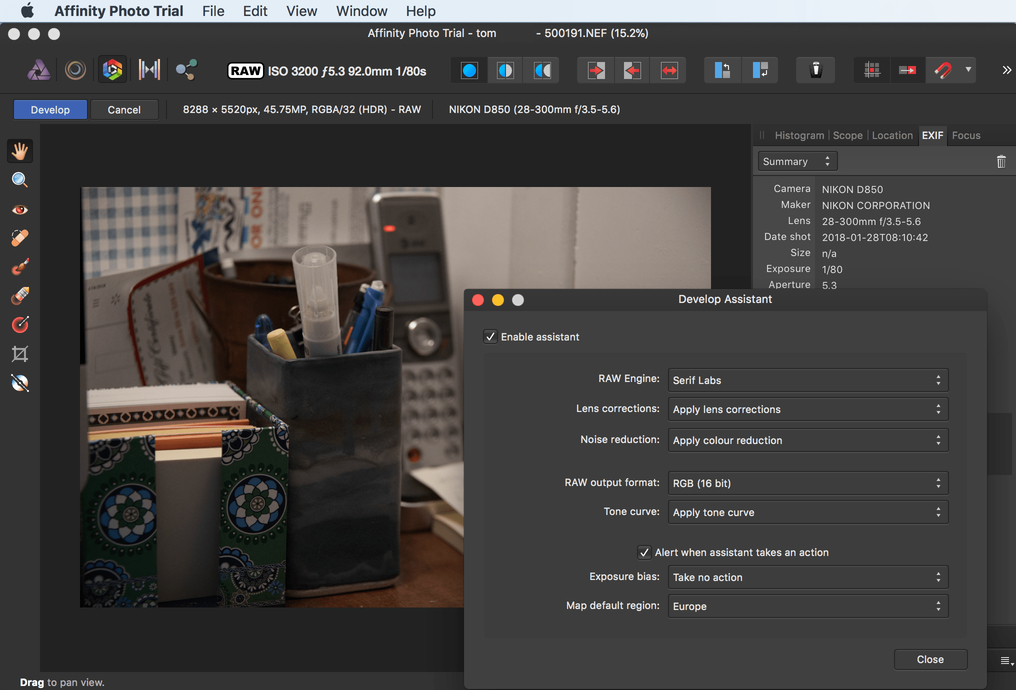 Will Affinity Photo handle the Nikon D850 files - Affinity