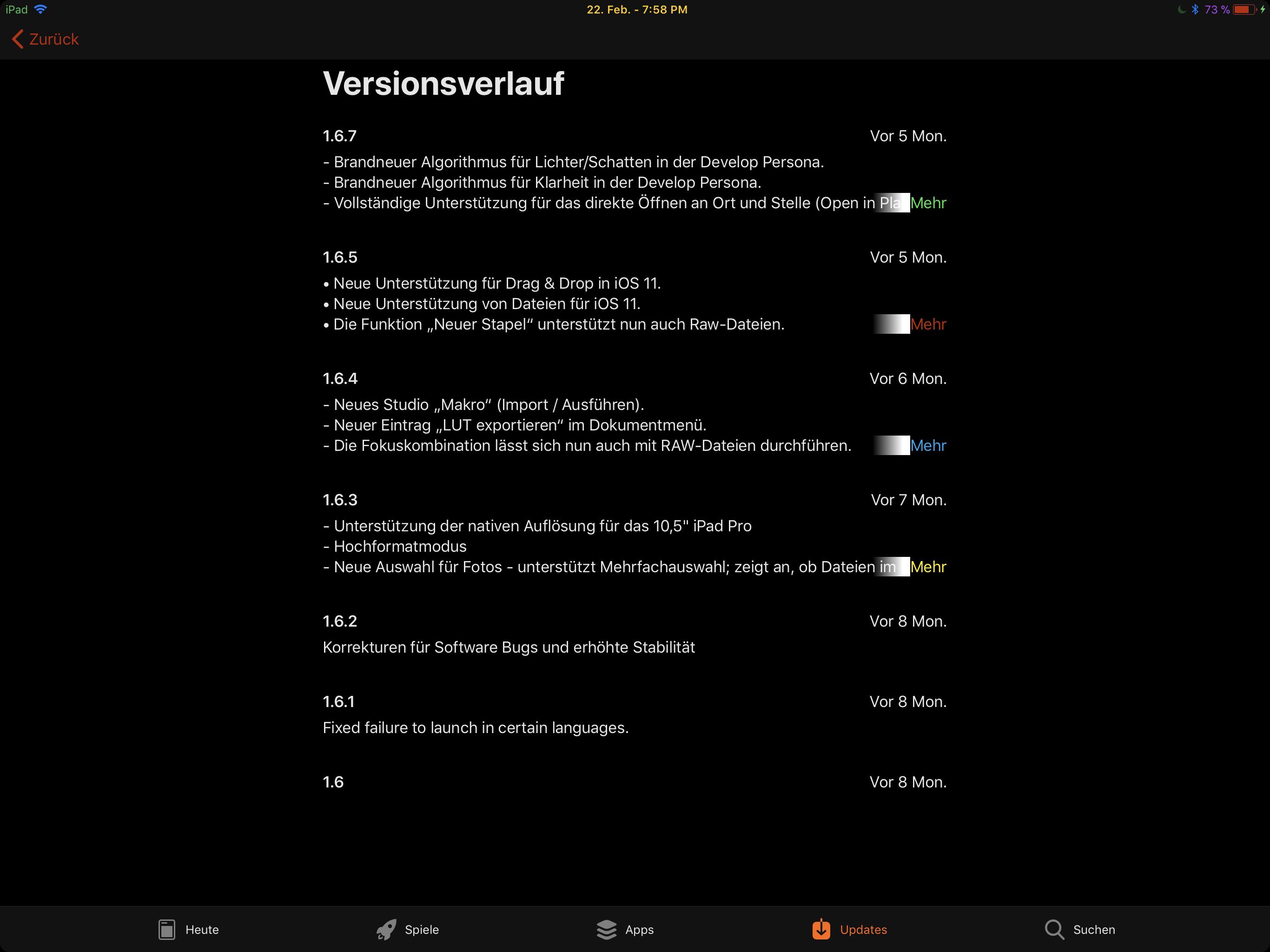 im still on Version 1 6 5 but how?? - Affinity on iPad