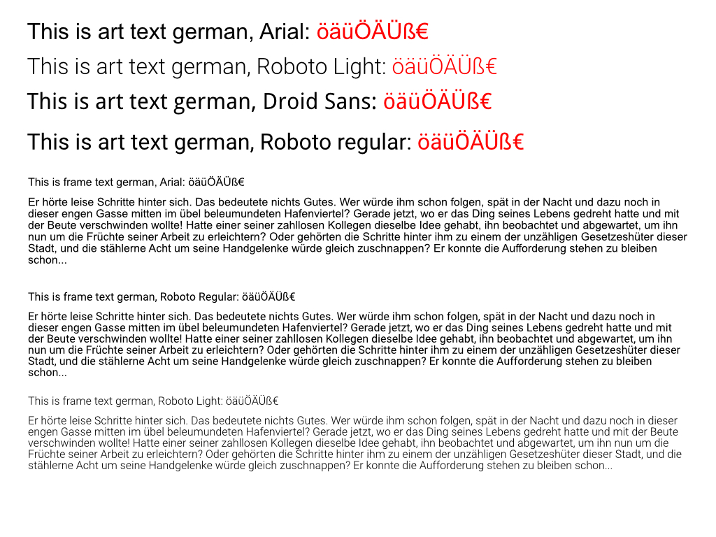AD export to PDF, text with font Roboto Light is destroyed