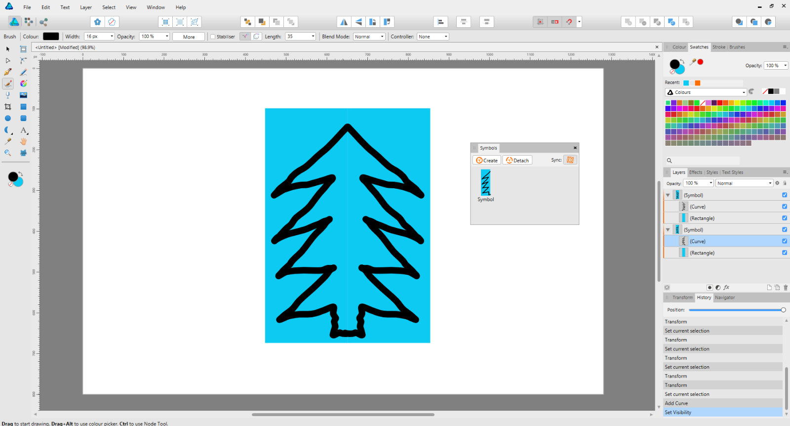 Photo Symmetry Drawing - Affinity on Desktop Questions (Mac and