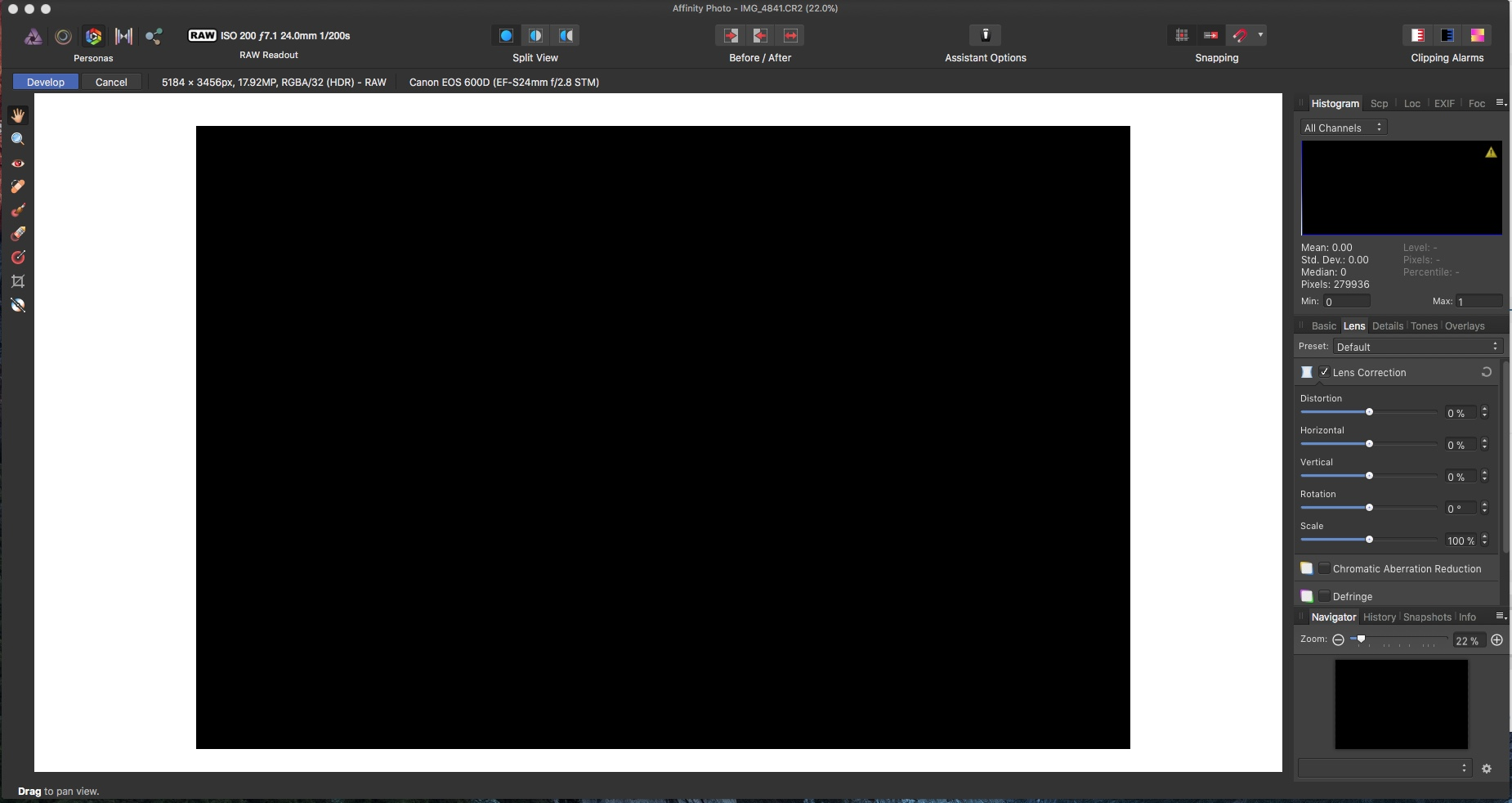 Apple Raw Engine malfunction - Affinity on Desktop Questions