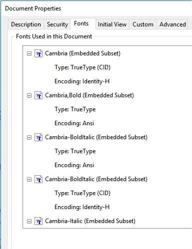 Missing fonts when opening PDFs - (Pre 1 7) Bugs on Windows