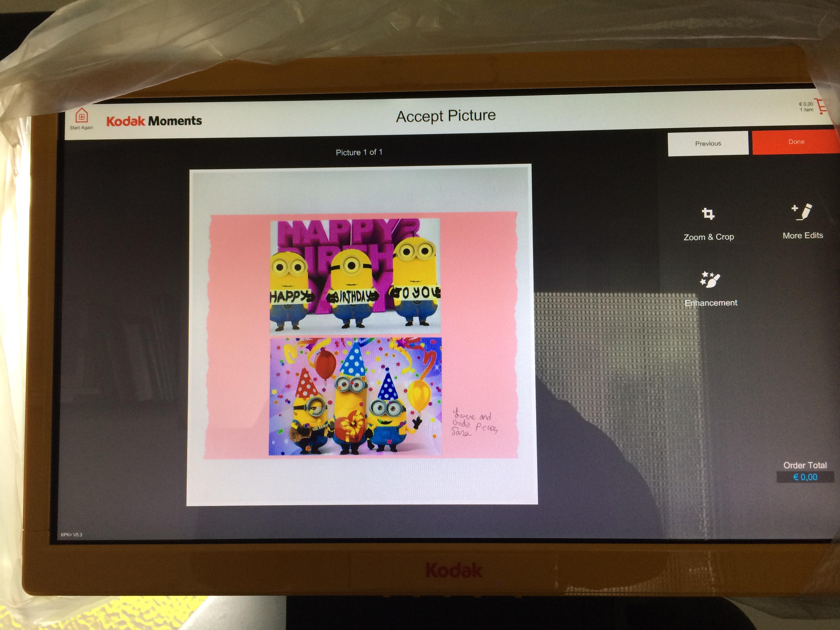 Problems with Kodak Picture Kiosk - Affinity on Desktop