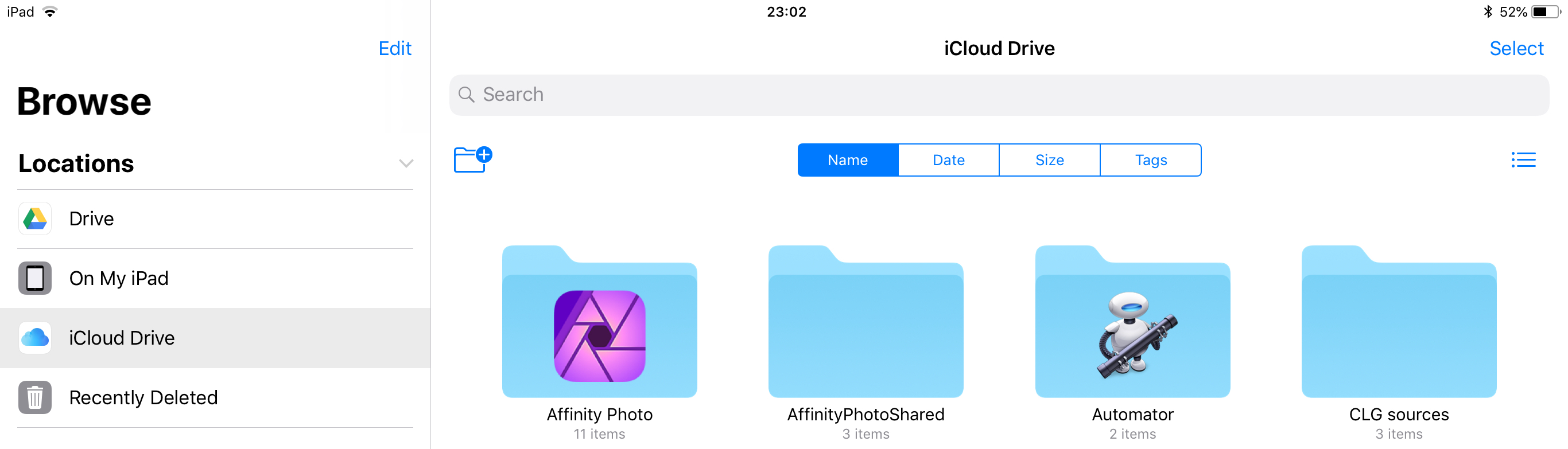 Bug: AP iCloud Drive Folder appears only on my iPad