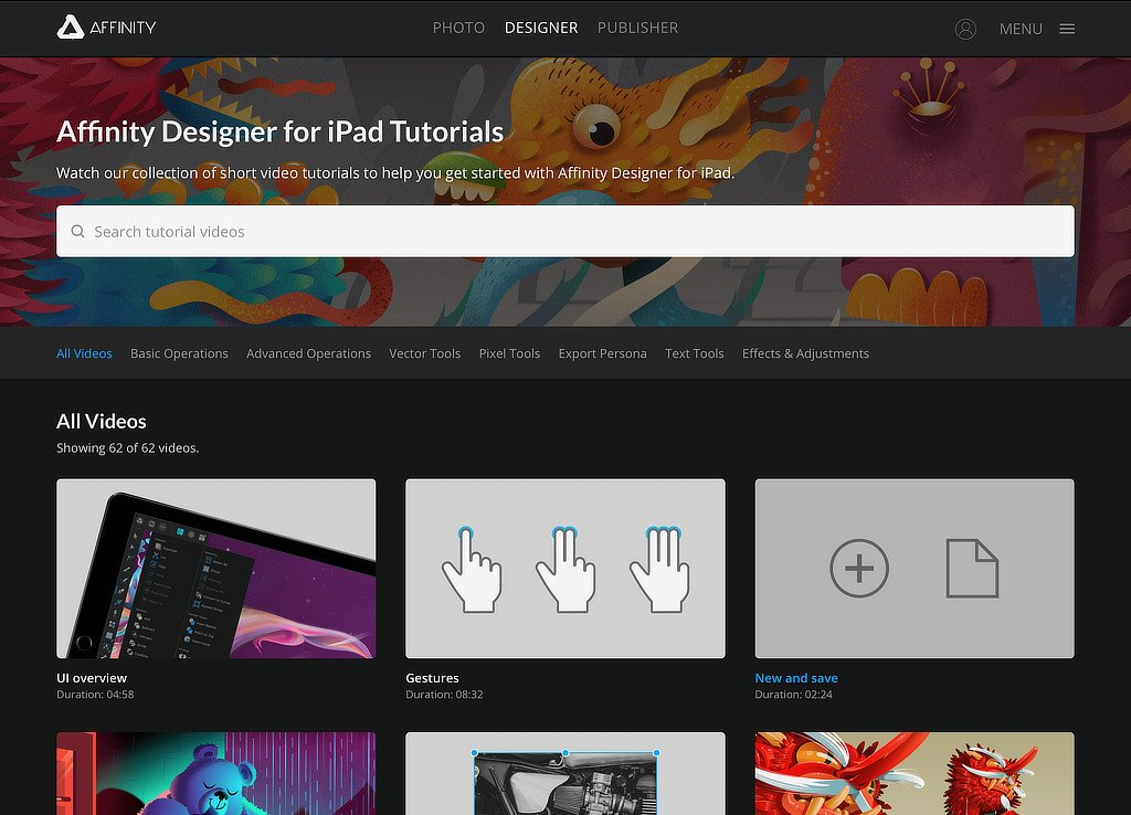Official Affinity Designer (iPad) Tutorials - Affinity on