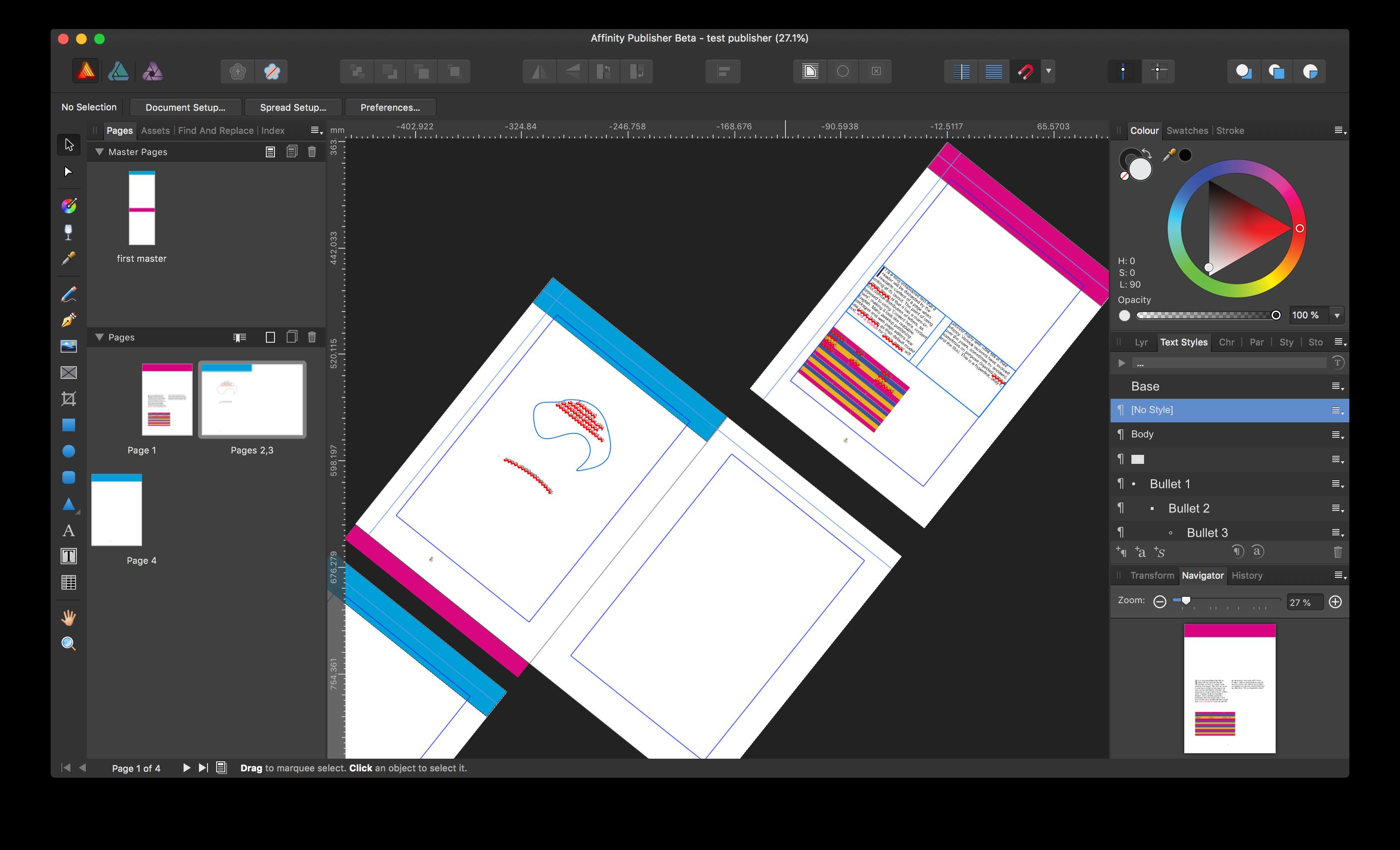 Reset canvas rotation? - Publisher beta on Mac - Affinity