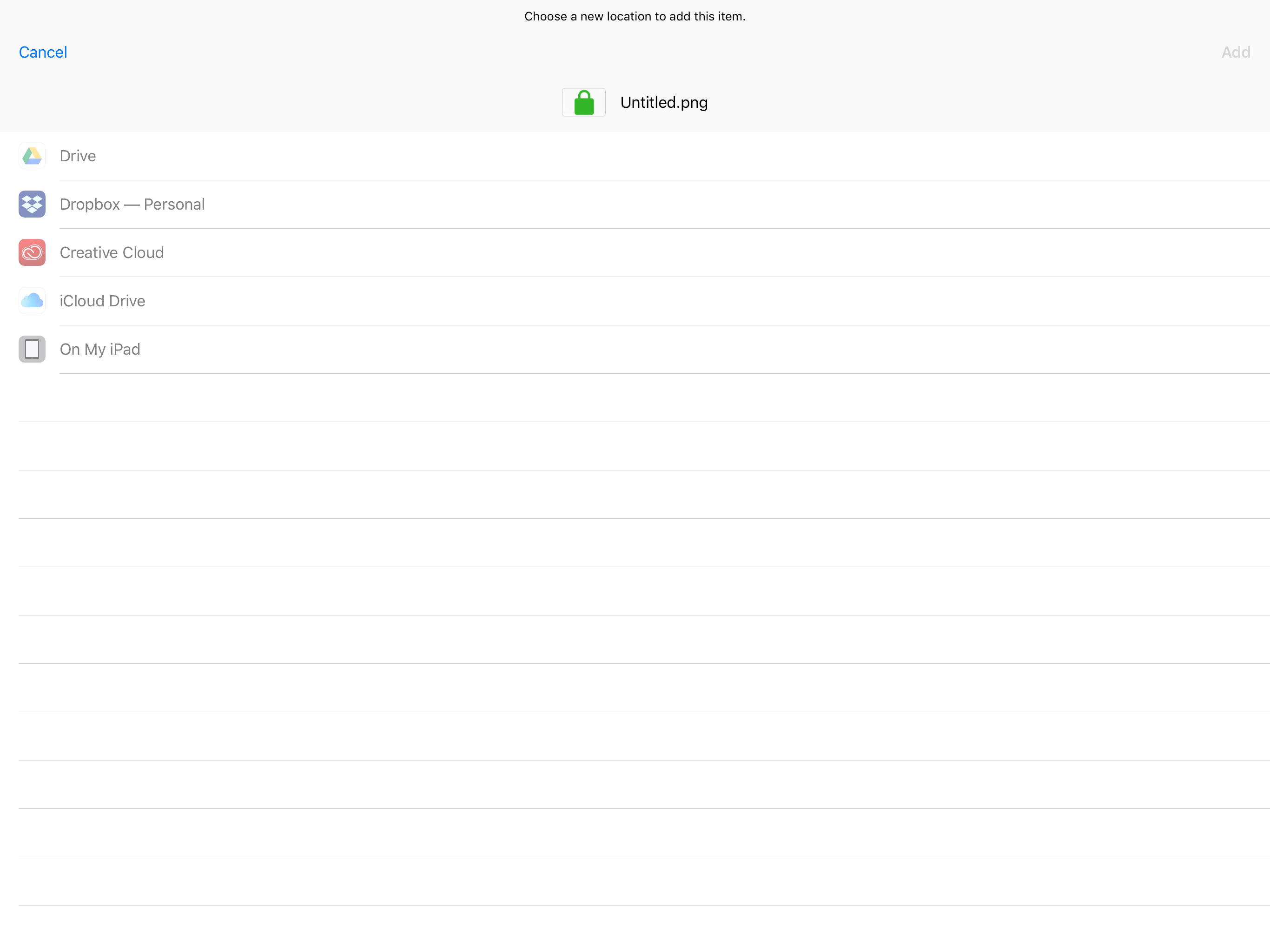 Save/Export Locations Greyed Out - Affinity on iPad