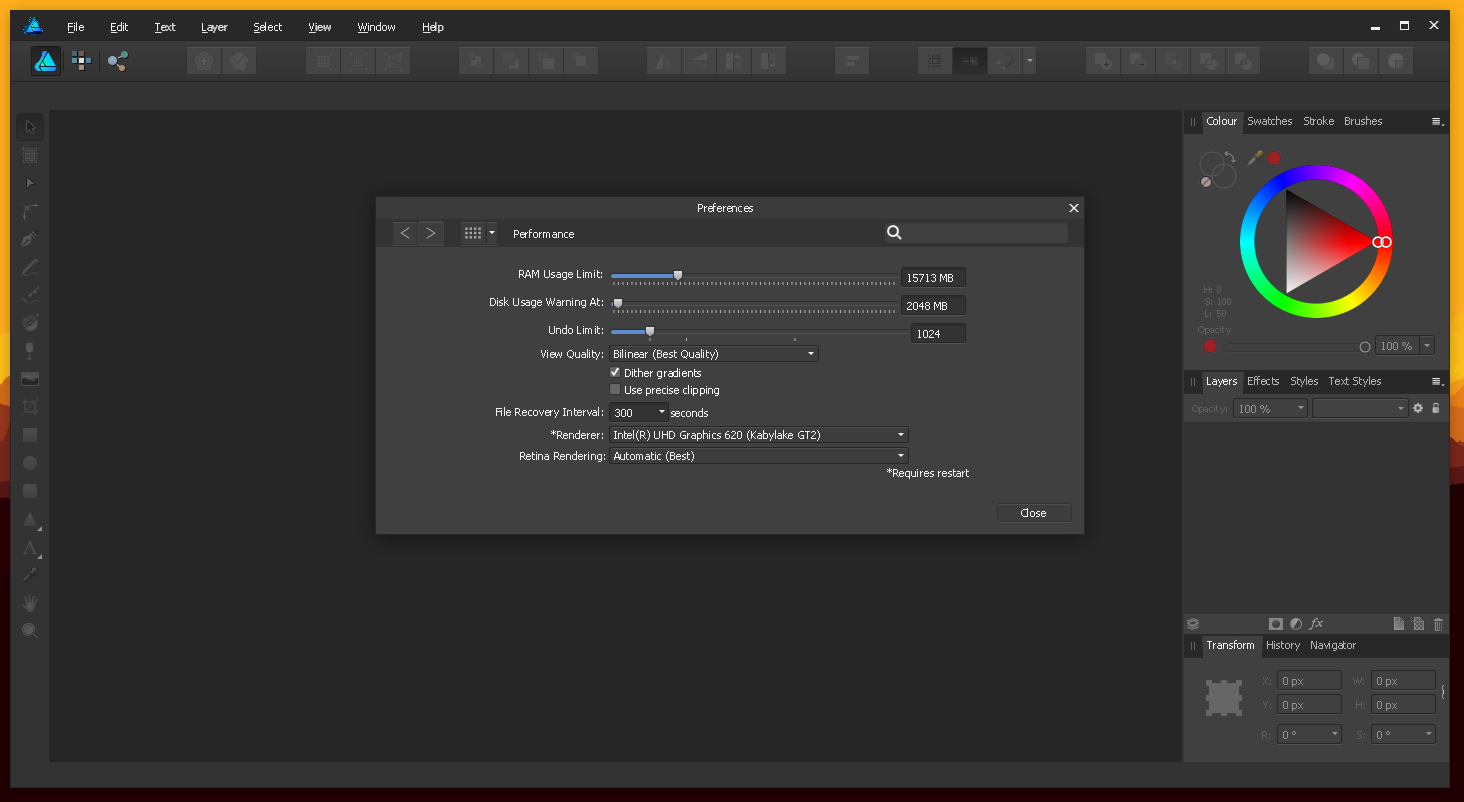 An attempt to run Affinity Designer on Linux via Wine - Affinity on