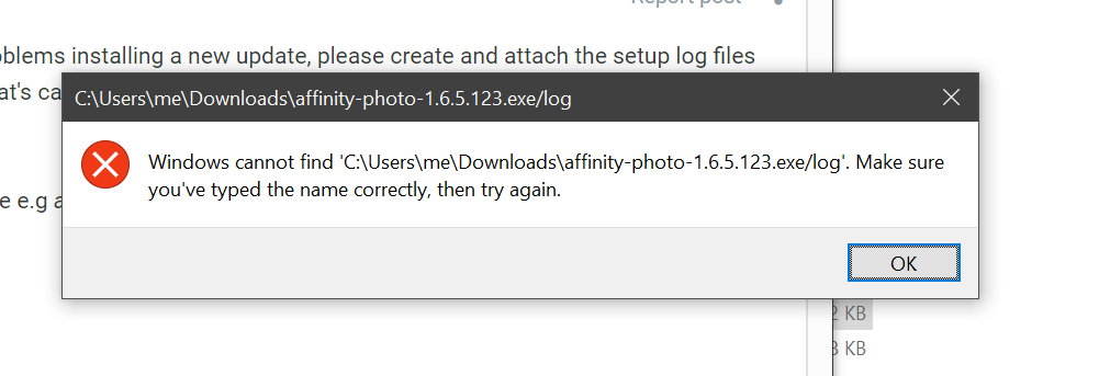 Unable to install 1 6 5 update - (Pre 1 7) Bugs on Windows