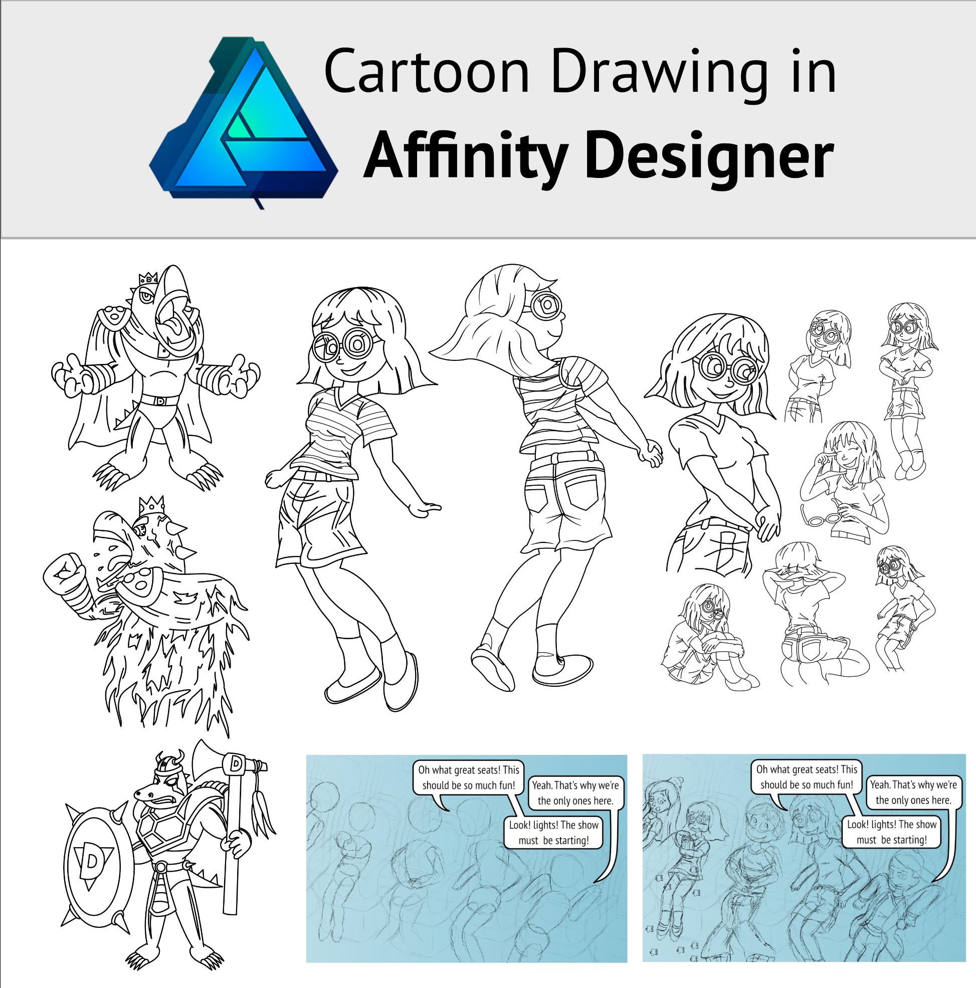 Cartoon Drawing in Affinity Designer - Tutorials (Serif and