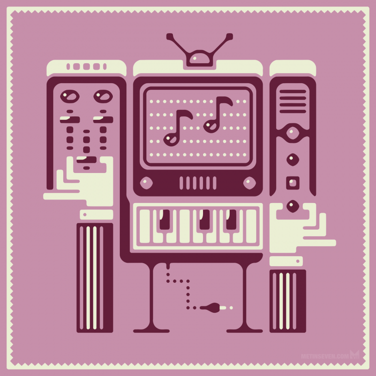 metin-seven_2d-vector-graphic-illustrator-illustrations_Retro-cartoon-modern-electronic-musician.png