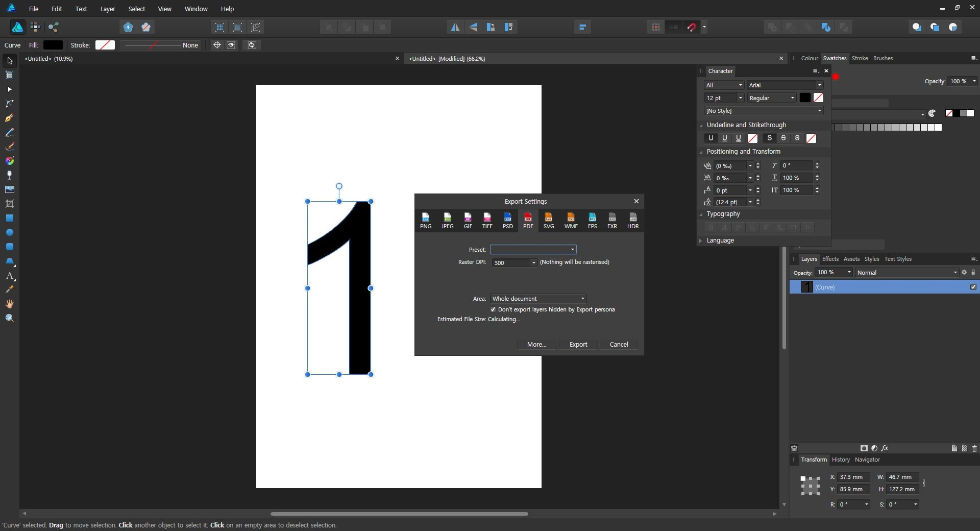 Pdf Export Error Endless Calculating Affinity On Desktop