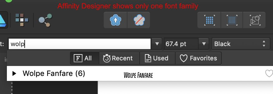 AD shows only one font family.jpg
