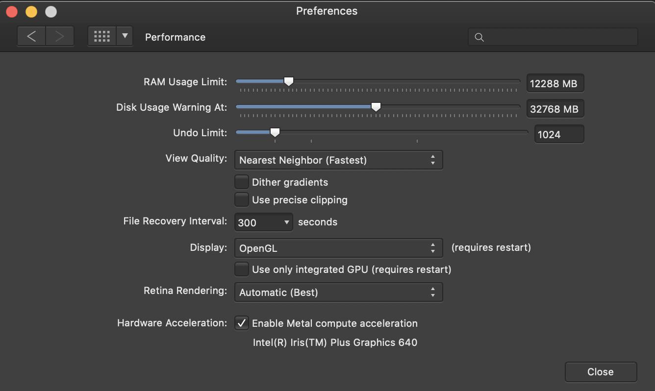 Affinity Photo on MacBook Pro 2017 very slow - Affinity on Desktop