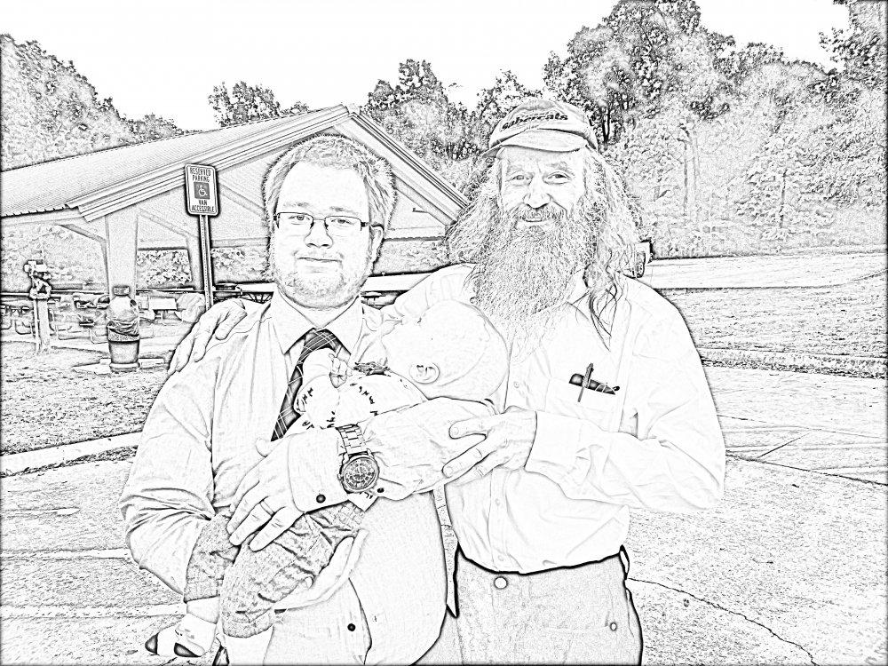 three generations of Kalson men_on Kirk's wedding day_pencil drawing effect.jpg