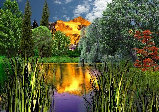 Фотокартина Горное озеро. (Copy).jpg