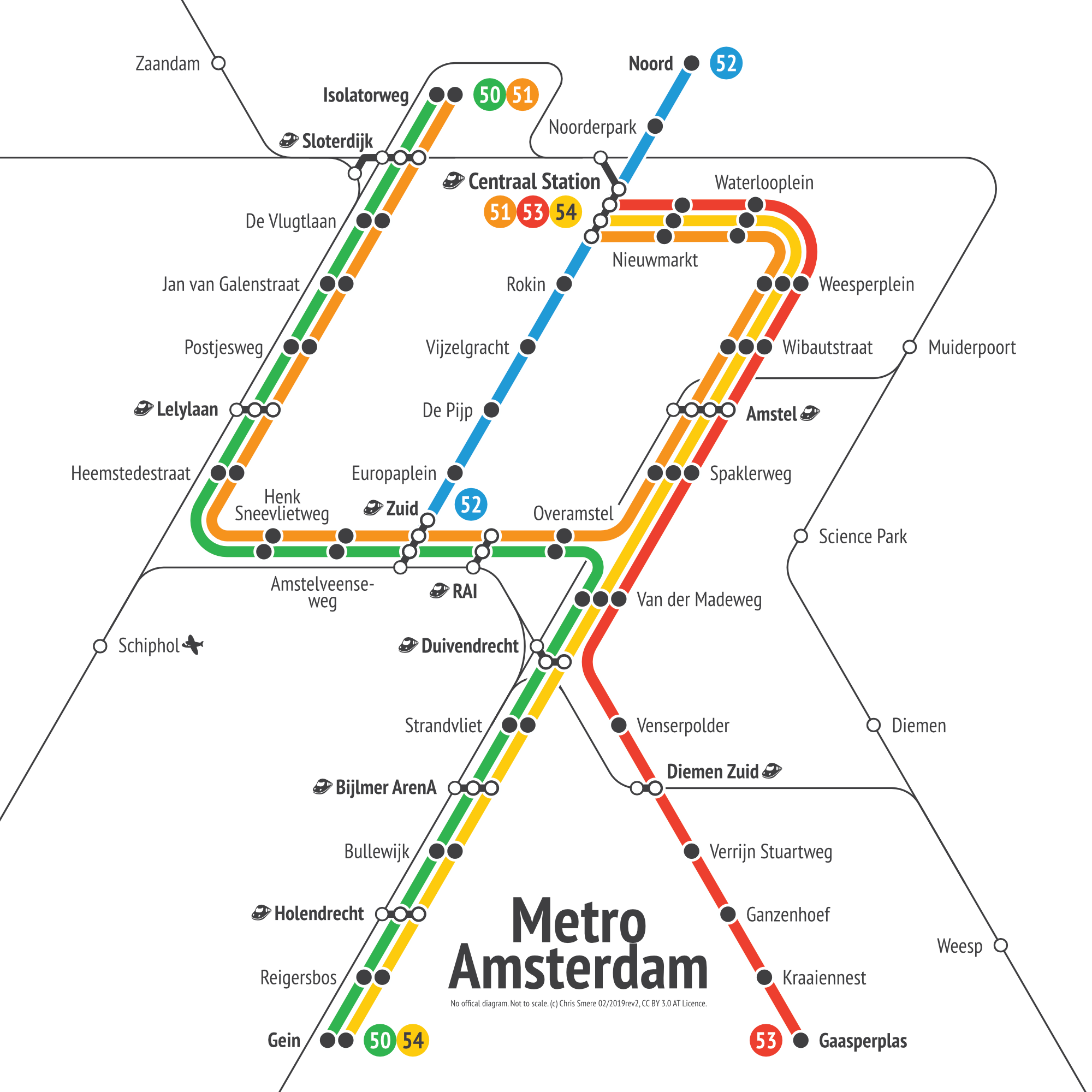 Amsterdam Subway Map.Amsterdam Metro Transit Diagram Share Your Work Affinity Forum