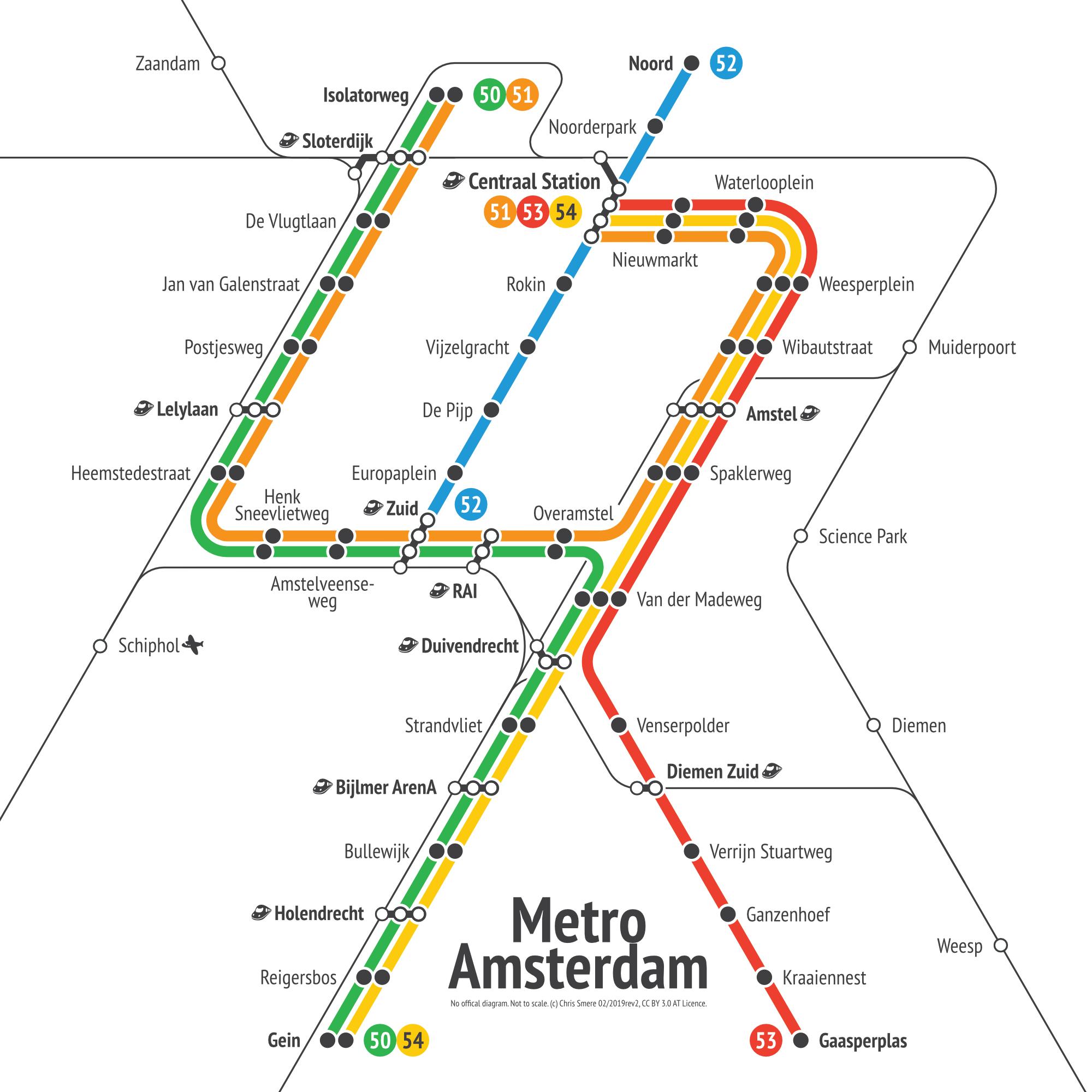 Amsterdam - Metro Transit Diagram