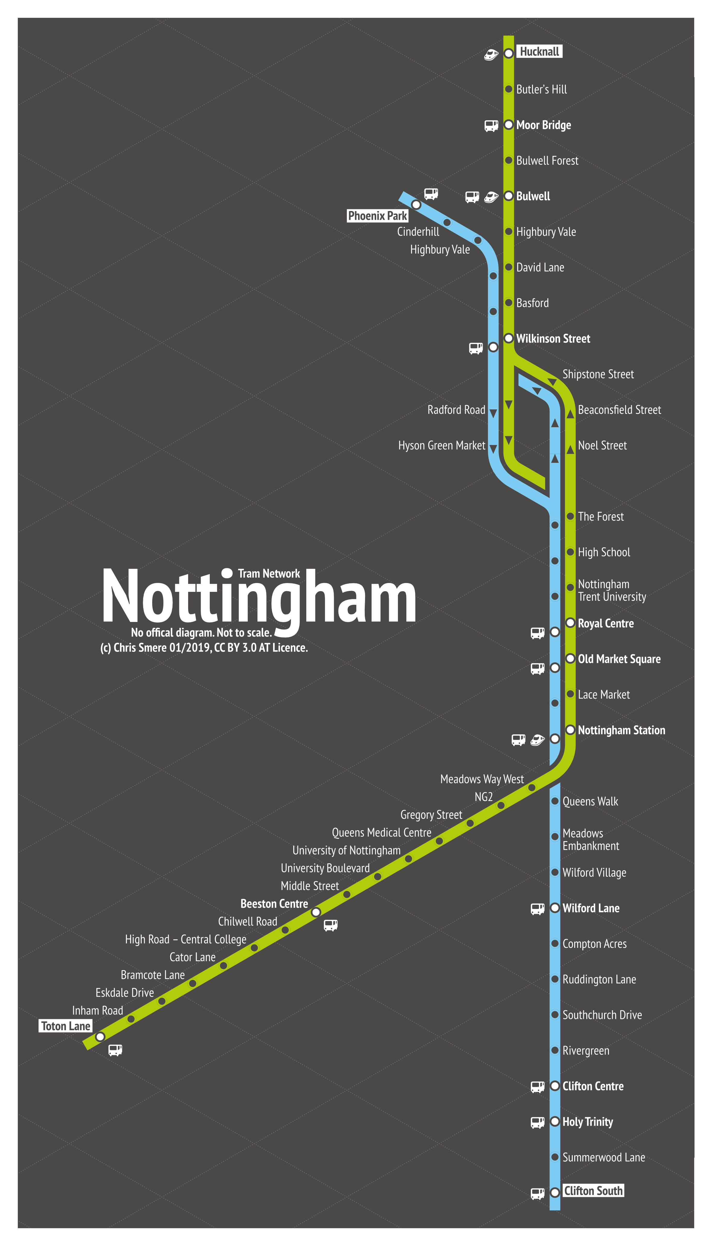Nottingham - Tram Network Transit Map - Share your work - Affinity