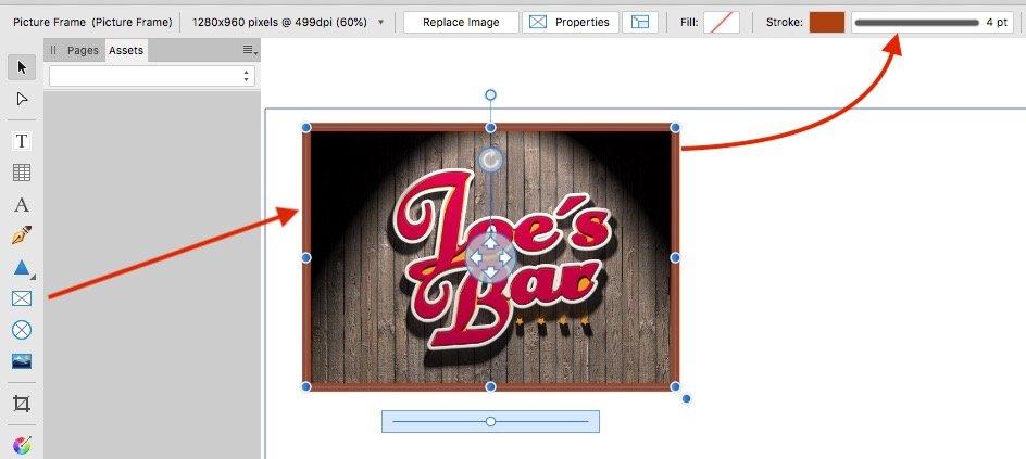 Contour frame for photos in Publisher? - Affinity on Desktop