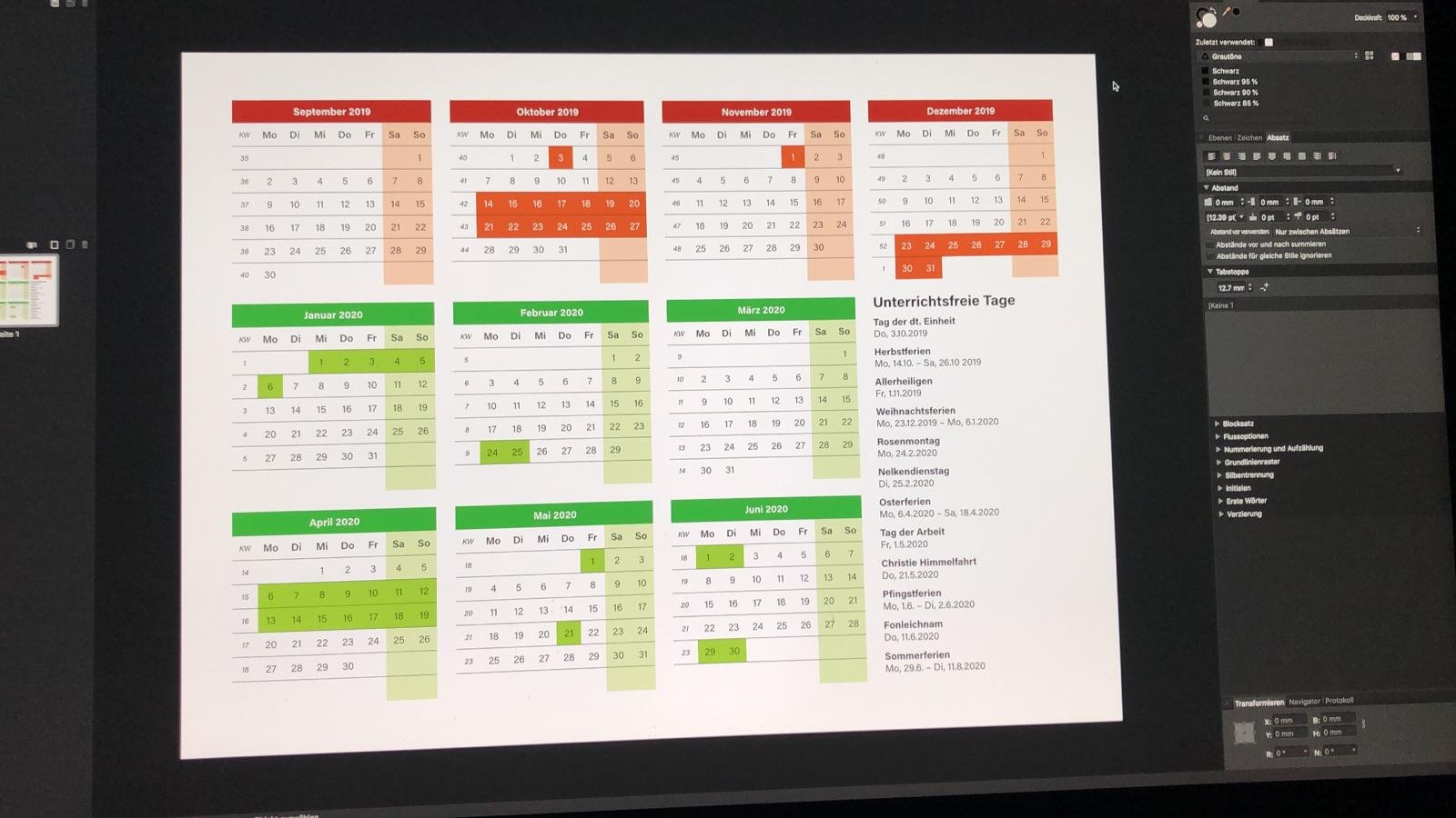 Publisher Calendar wizard - Feedback for Affinity Publisher