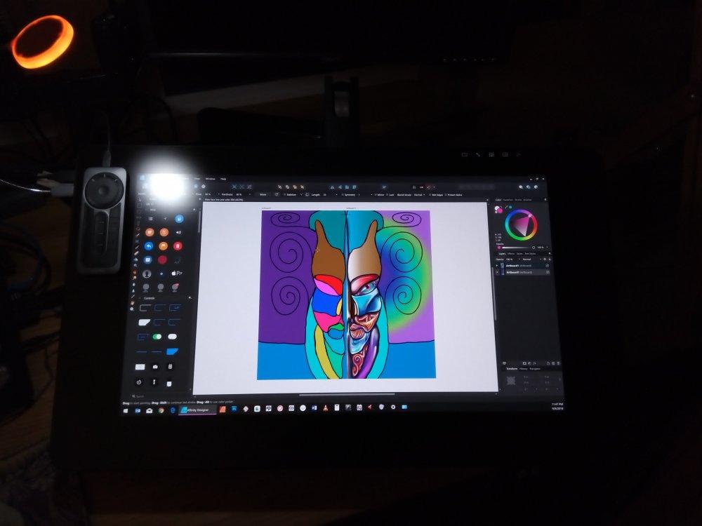 Mask of Jaru by Doz on his Cintiq 24 inch 9 09 2019.jpg