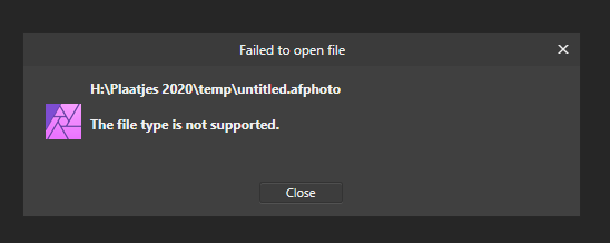 affinity fail to open.PNG